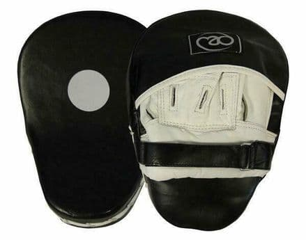 Fitness Mad Leather Boxing Pro Curved Hook & Jab Pads Mitts
